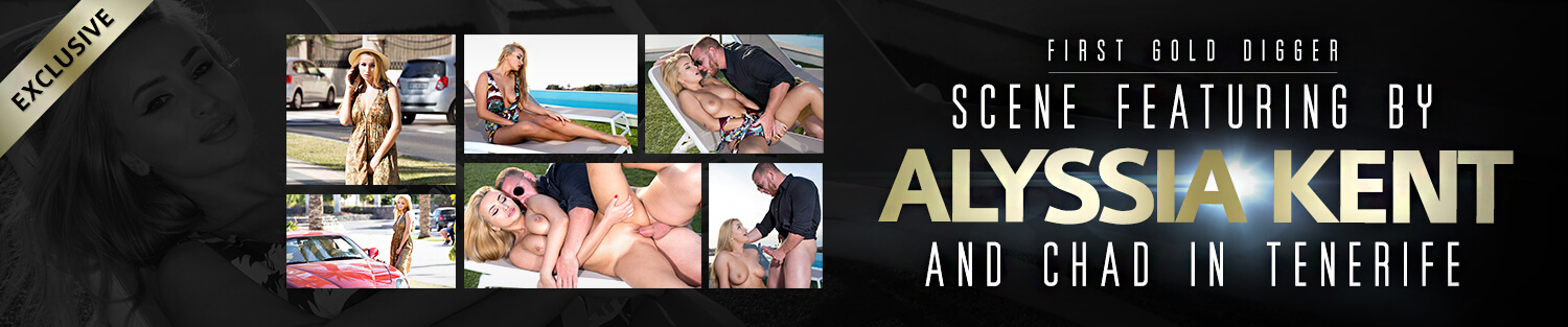 First Gold Digger scene featuring by Alyssia Kent and chad in Tenerife